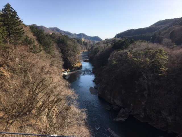 今日の鬼怒川大吊橋