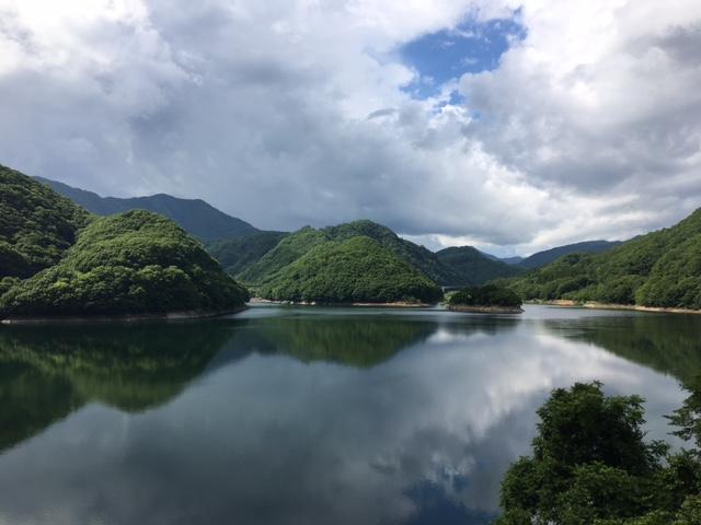 昨日の五十里湖の様子。